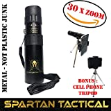 Spartan Tactical, Monoculars for adults, binoculars, like, metal, telescope, nikul high power monocular, BEST 30X ZOOM!!, Camping gear, spotting scope, FREE cell phone tripod, Molon Labe