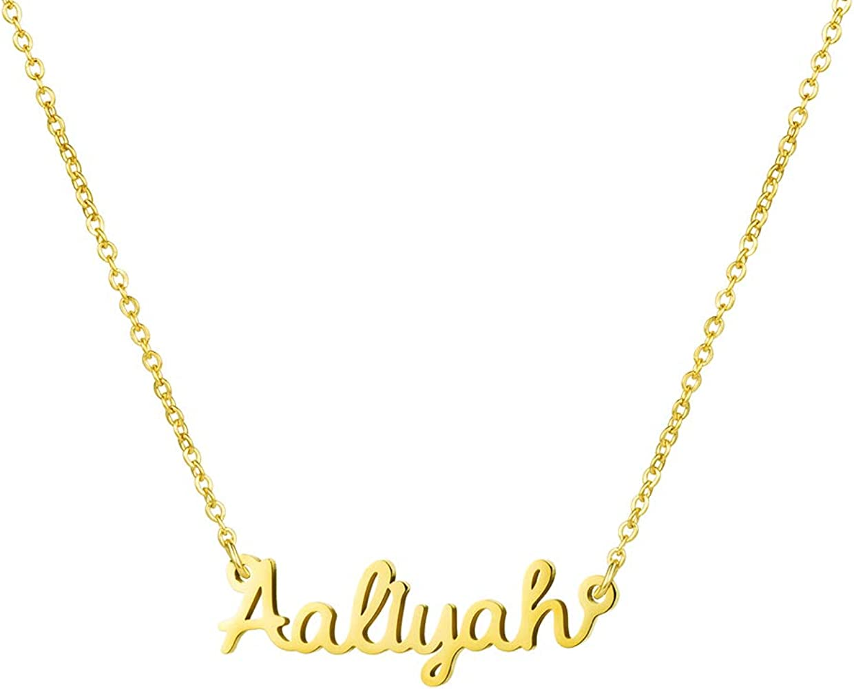 LoEnMe Jewelry Customized Sharpe Name Necklace Stainless Steel Plated Custom Made of Last Name Gift for Family