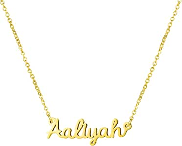 Yiyang Personalized Name Necklace 18K Gold Plated Stainless Steel Pendant Jewelry Birthday Girls