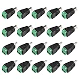 uxcell 20Pcs RCA Male/Female Connector to AV 2-Screw Terminal Audio Video Adapter CCTV