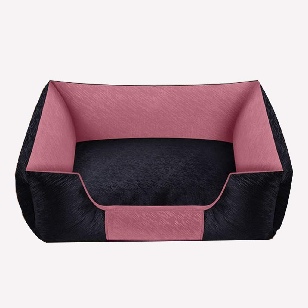 Pale Pink 7255cm Pale Pink 7255cm Pet Bed Non-sticky Kennel Removable And Washable Four Seasons Dog Bed Small Dog Large Dog Teddy Fund Mao Hu Shiqi (color   Pale pink, Size   72  55cm)