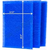 StratosAire Air Cleaner Replacement Filter Pads 20x20 Refills (3 Pack) BLUE