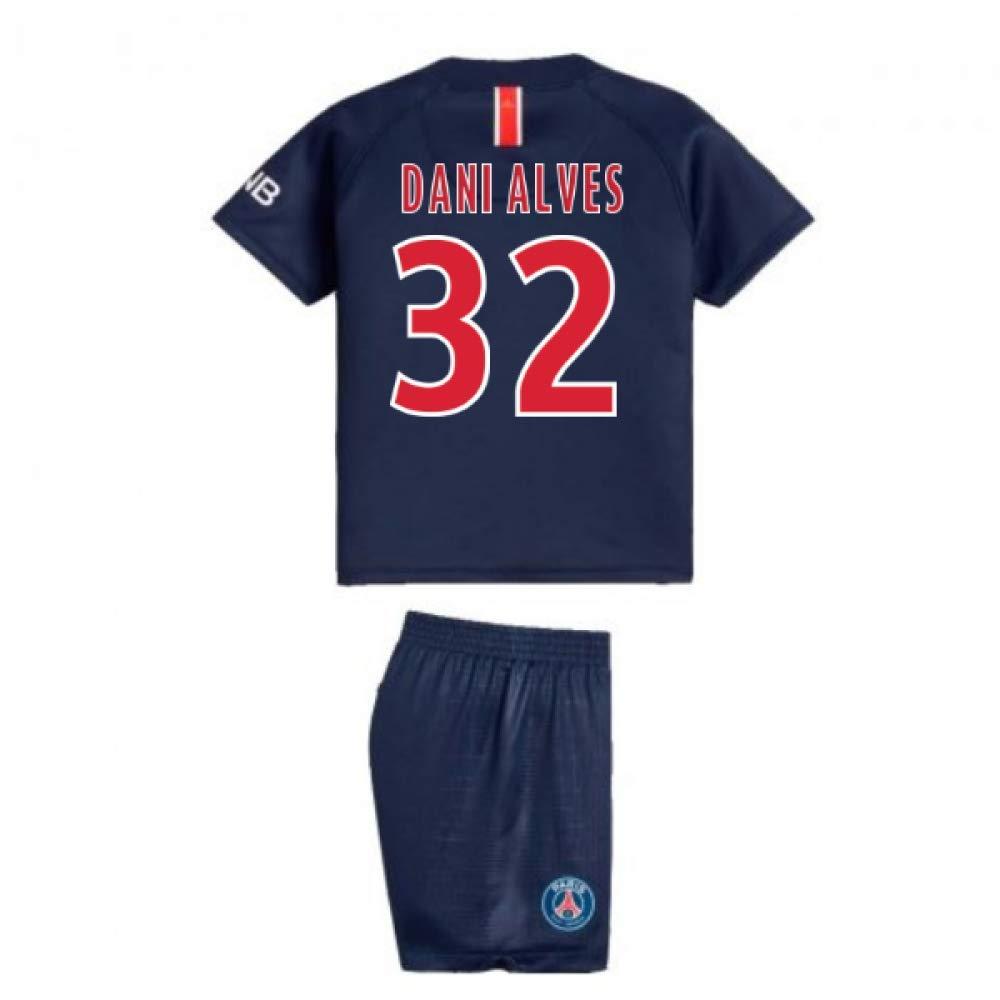 UKSoccershop 2018-2019 PSG Home Nike Baby Kit (Dani Alves 32)