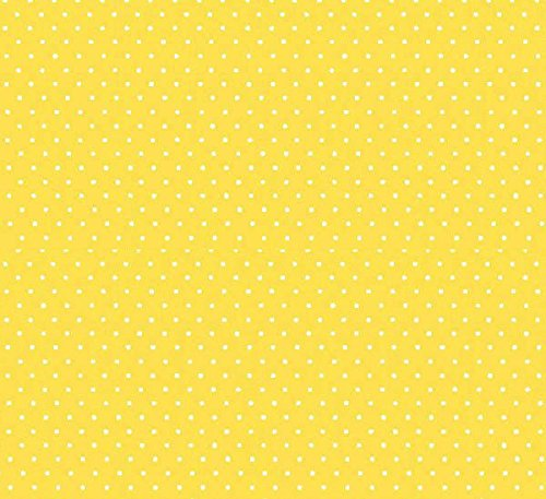 SheetWorld Fitted Portable/Mini Crib Sheet - Primary Pindots Yellow Woven - Made In USA