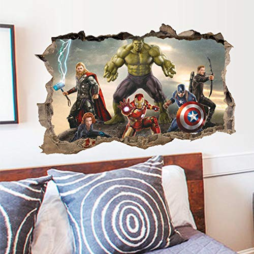 Vercico 3D Avengers Endgame Wall Stickers Superheros Wall Decals Kids Wall Decals for Bedroom Gaming Wall Decal Art Vinyl Wall Decor Sticker 20 28in (#3) -
