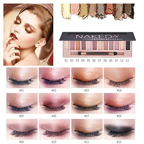 Eyeshadow Palette Makeup Matte Shimmer 12 Colors High Pigmen
