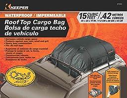 Keeper 07203 Waterproof Roof Top Cargo Bag (15 Cubic Feet)