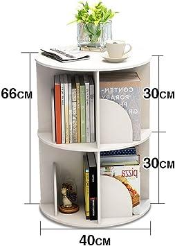 estanter/ía giratoria de 360 grados estanter/ía Estanter/ías y almacenaje Librer/ía mesa simple moderno el gabinete de piso estudiante estante de m/últiples capas Almacenaje de oficina para hogar