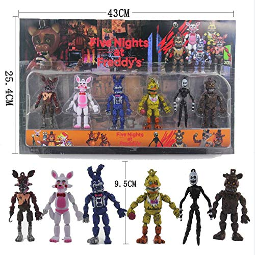 PampasSK Action & Toy Figures - pcs/Set Five Nights at Freddy's Action Figure Toy FNAF Bonnie Foxy Freddy Fazbear Bear Freddy Toys for Children Gift 1 PCs from PampasSK