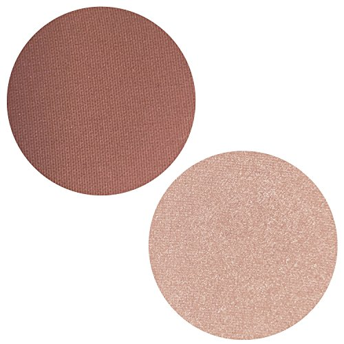 Powder Blush Highlighter Duo: 2 PC Set Includes Mauve Mist Blush + Pink Parfait Highlighting Kit Makeup for Face, Magnetic Refill Pan 37mm, Paraben Free, Gluten Free, Made in the (Apple Brightening Mist)