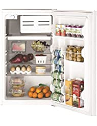 Ge REFRIGERATORS 632116  4.4 Cu.ft. Compact Refrigerator, White, Reversible Door Swing