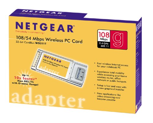 NETGEAR WG511T Super-G Wireless PC Card