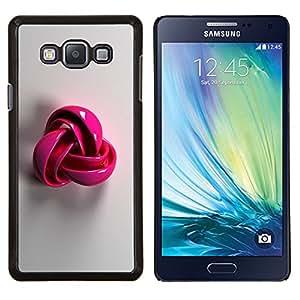 EJOOY---Cubierta de la caja de protección para la piel dura ** Samsung Galaxy A7 A7000 ** --plástico rosa símbolo patrón de lana gris