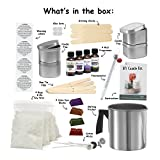 Complete DIY Candle Making Kit Supplies – Create 4 Large Scented Soy Candles – Full Beginners Set Including 2 LB Wax, Rich Scents, Dyes, Wicks, Melting Pitcher, Tin Containers and more