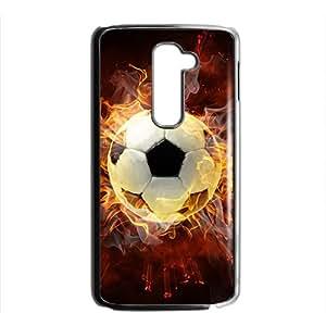 Fire Football Custom Protective Hard Phone Cae For LG G2