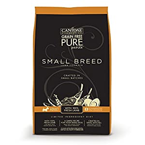 CANIDAE PURE Petite Small Breed Adult Dog Dry Formula with Fresh Lamb, 6 lb