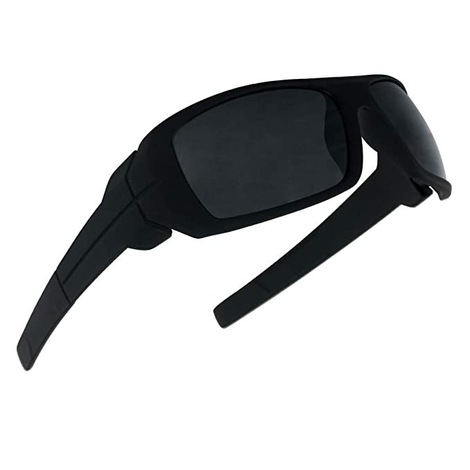 6ba97692a58f Image Unavailable. Image not available for. Color: SunglassUP - Wrap Around  Dark Black Sports Uv400 Sunglasses