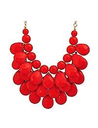 Jane Stone Fashion Jewelry,Floating Bib Necklace, Drop Shape Necklace,Statement Jewelry