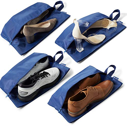 Travel Shoe Bag - 4 Large Shoe Bags for Travel - Keep Your Luggage Organized!