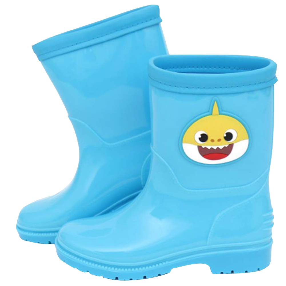 Joah Store Pinkfong Baby Shark Cute Rain Boots for Boys Girls (Parallel Import/Generic Product) (7 M US Toddler, Blue)