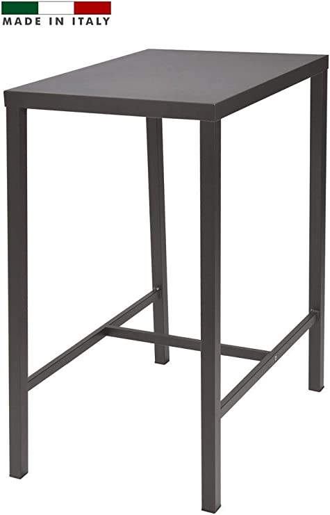 RD ITALIA Table Haute H 105 Plan 60 x 80 Couleur Anthracite ...