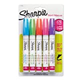 Sharpie PAINT Marker Paint, Permanent Oil-Base Marker Medium, 5-Carded, Fashion Assorted (1770459)