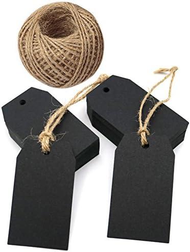 10 black paper tags chalkboard paper parcel tags paper parcel tags black gift tags small