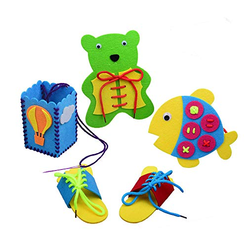 Montessori Learning Toys for Baby and Kids, Lacing & Tracing Cards for Preschool Children, String Educational Toy Suitable for Boys and Girls Above 36 Months