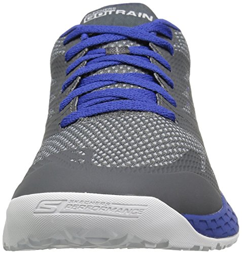 Skechers Performance Mens Go Train-Endurance Walking Shoe Charcoal/Blue 8tKDnL0
