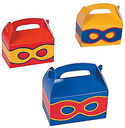 Superhero Treat Boxes Party Favors product image
