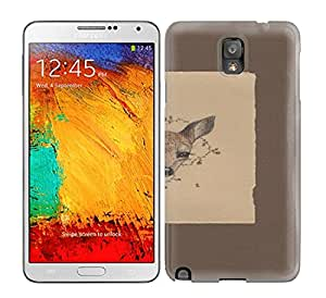 Anti-scratch And Shatterproof Fawn Art Print Phone Case For Galaxy Note 3/ High Quality Tpu Case