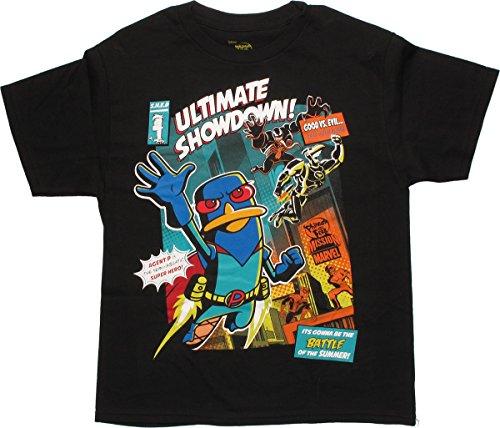 Disney Phineas & Ferb Boys' Retro Cover T-Shirt