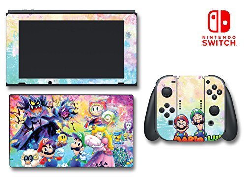 gi Peach Dream Team Video Game Vinyl Decal Skin Sticker Cover for Nintendo Switch Console System ()