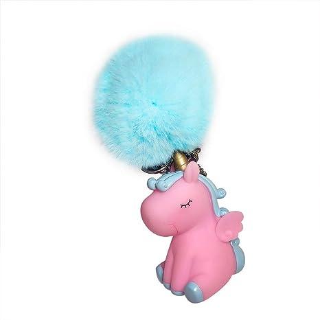 Da.Wa 1X Llavero Unicornio Llavero de Felpa Arco Iris para Niñas Regalo para Niños Rojo