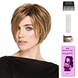Java by Ellen Wille, Wig Galaxy Hair Loss Booklet, 2oz Travel Size Wig Shampoo, Wig Cap, & Wide Tooth Comb (Bundle - 5 Items), Color Chosen: Champagne Rooted
