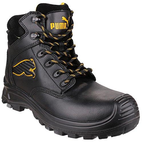 Puma Sicherheit Borneo Mid Herren Sicherheit Stiefel in Schwarz