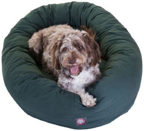 Majestic Pet 52-Inch Bagel Bed for Pets, Green by Majestic Pet Products, Inc.
