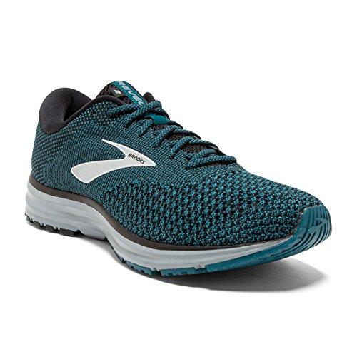 Brooks Mens Revel 2 Running Shoe - Black/Blue/Grey - D - 13.0