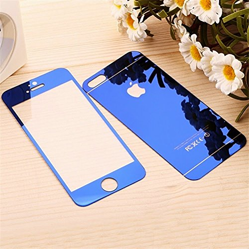 timeless design 7e82e 083c1 TrenDiSs BLUE COLOR APPLE IPHONE 5 / 5S FRONT & BACK DESIGNER COLORED  TEMPERED GLASS SCREEN PROTECTOR GUARD WITH 30 DAYS MONEY BACK GUARANTEE BY  RK ...