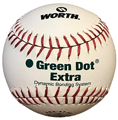 Worth Green Dot Official Softball 11 Inch Model PX-11RSA White Red