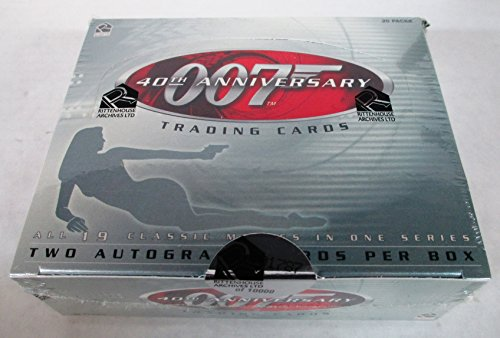 Rittenhouse James Bond 40th Anniversary Trading Cards Box Set - 2 Autograph Cards Per Box! by James Bond