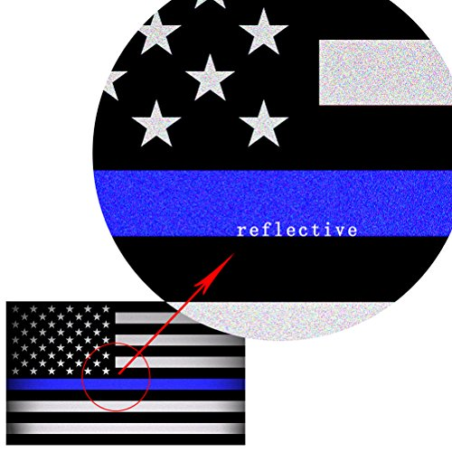 creatrill reflective us flag decal packs with thin blue With kitchen colors with white cabinets with thin blue line window sticker
