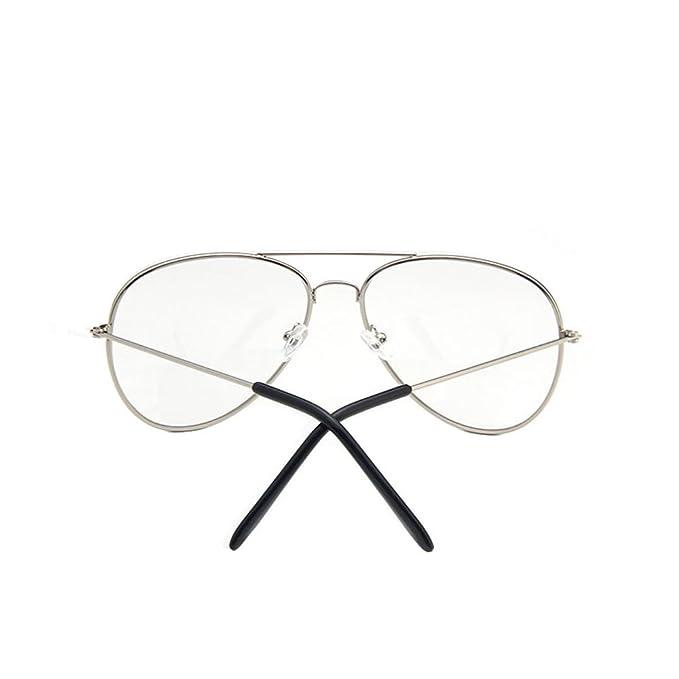 Vintage Pilotenbrille Herren Damen Mit Fensterglas