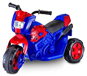 Kid trax spiderman electric motorcycle blue toys games - Quad spiderman ...