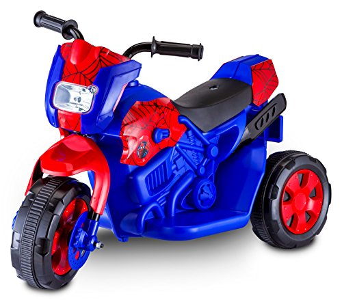 Kid Trax Spiderman Electric Motorcycle, Blue