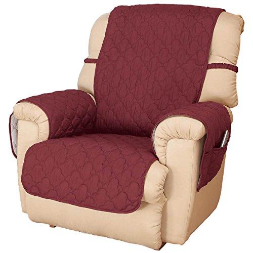 Deluxe Microfiber Recliner Chair Cover by OakRidge, Burgundy Burgundy Recliner