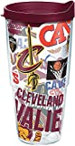 Tervis 1264934 NBA Cleveland Cavaliers All Over Tumbler with Wrap and Maroon Lid 24oz, Clear