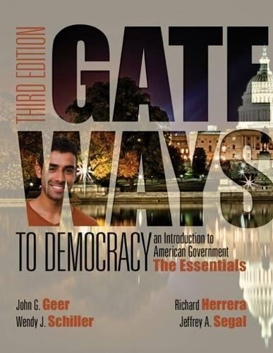 Gateways to Democracy: The Essentials (with MindTap Political Science, 1 term (6 months) Printed Access Card) (I Vote for MindTap) - Gateway To Democracy