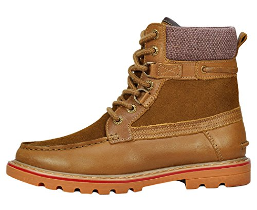 Serene Mens High Top Lace Up Buckle Ankle Boot(8 D(M)US, Tan)