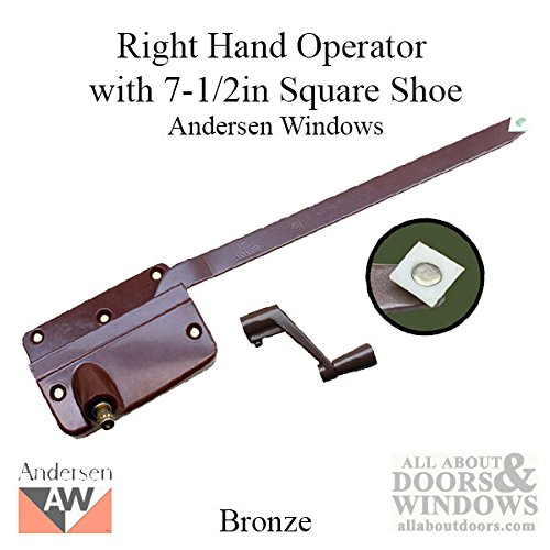 Andersen 7073A Operator w/ Handle 7-1/2 Inch Arm Square Shoe, RH - Bronze by Andersen Windows